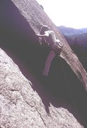 Rock Climbing Photo: Anne Carrier, pulling the 5.9+ roof on the first p...