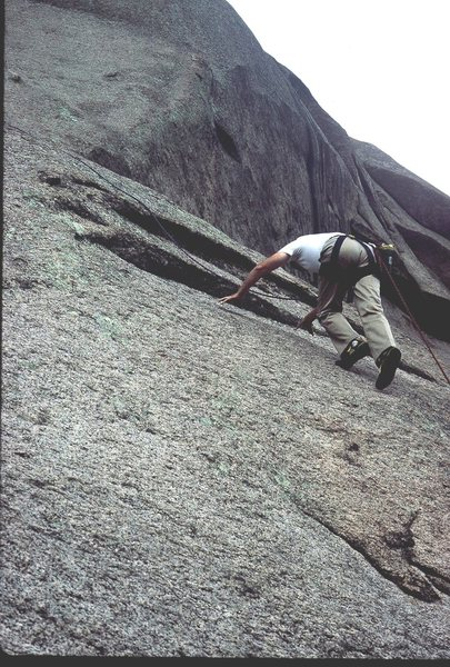 Rock Climbing Photo: Rodger Raubach following pitch 2 on Topographical ...