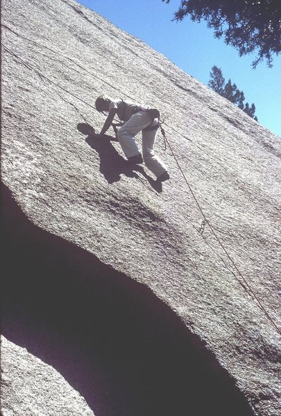Rock Climbing Photo: Anne Carrier on first pitch.