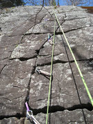 Rock Climbing Photo: This was my first ever trad lead, and as you can s...