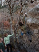 Rock Climbing Photo: Easy Arete V0 Secret Garden  November 19, 2009  I ...
