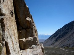 Rock Climbing Photo: Jason high on Orange Crush.