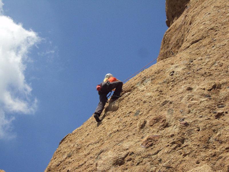 Rock Climbing Photo: Pocket pulling at Texas Canyon.