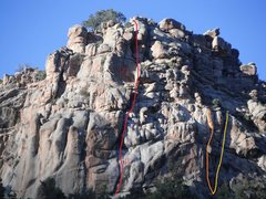 Rock Climbing Photo: From right to left:  Salem - 5.10+. Hudak Attack -...