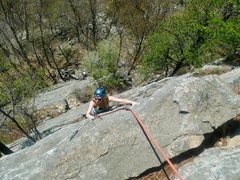 Rock Climbing Photo: easy face climbing, relaxed and fun.