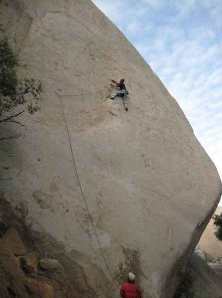 Rock Climbing Photo: At the second bolt.  Cool Jerk goes straight up fr...