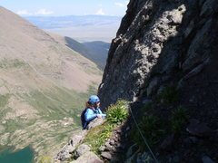 Rock Climbing Photo: Gettin' higher, Ellingwood Ledges (5.7), Crestone ...