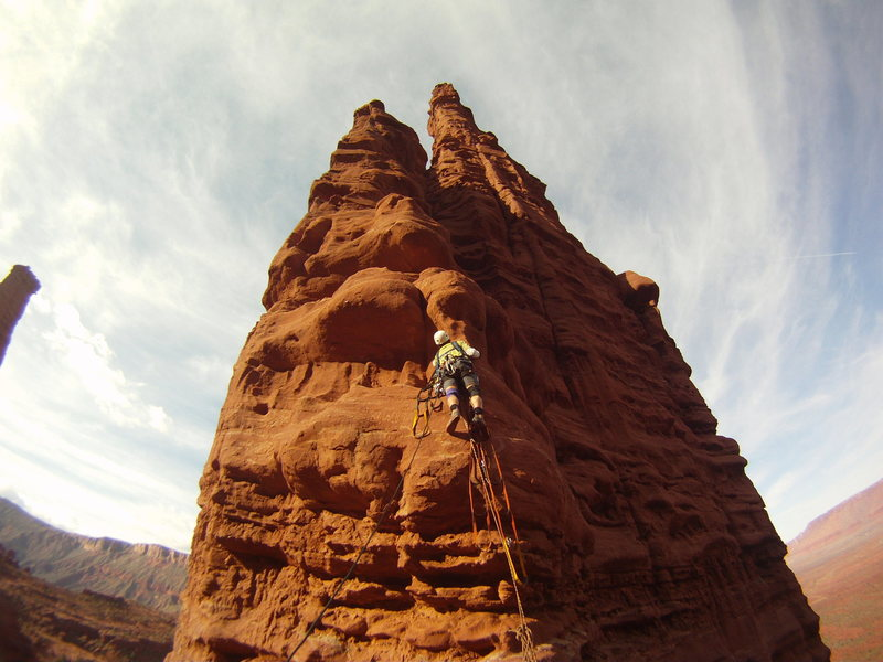 Rock Climbing Photo: The beginning of the pitch 5 bolt ladder of West S...