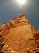 Rock Climbing Photo: South side of North Six Shooter. Looking up Lightn...