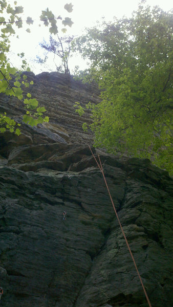 Just prior to rappelling taken by my belayer.