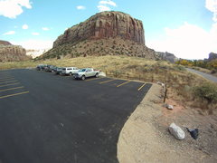 Rock Climbing Photo: Supercrack Buttress parking lot- after.