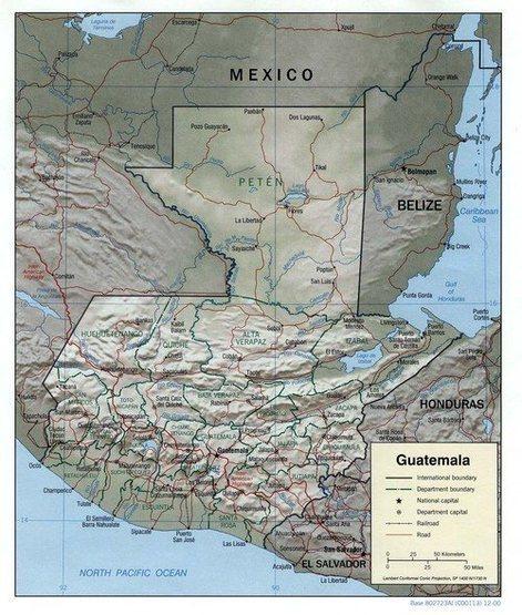Rock Climbing Photo: Map of Guatemala