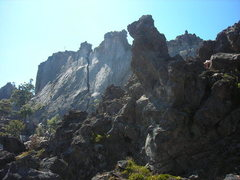 Rock Climbing Photo: Picture of the climbing area. There are both sport...