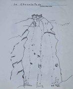 Rock Climbing Photo: Map of the La Chocolatada section of Cerro Quemado...