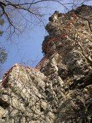 Rock Climbing Photo: the ecstasy line. a good one!