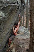 Rock Climbing Photo: Matt on Straight Again Again