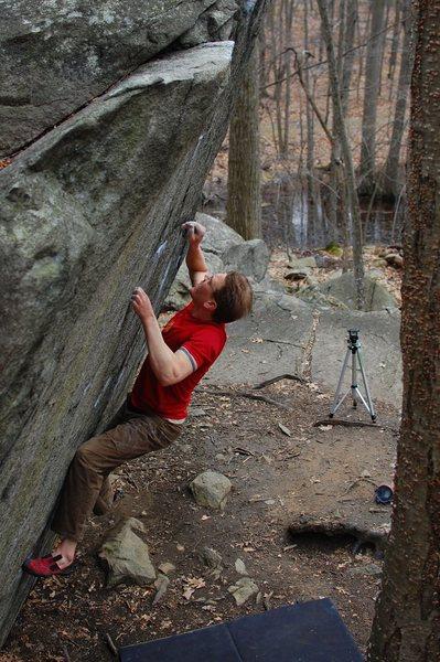 Rock Climbing Photo: Jared on Straight Again