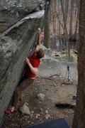 Rock Climbing Photo: Jared on Straight Again V7
