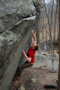 Rock Climbing Photo: Jared on Straight Again V7