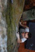 Rock Climbing Photo: Matt on The Crimp Problem Sit Start V6