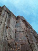 Rock Climbing Photo: Follow the obvious line.