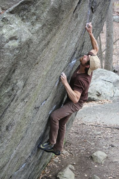 Rock Climbing Photo: Sam on Straight Again V7