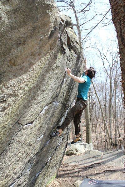 Rock Climbing Photo: Tom on Loadies Zen V7