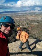 Rock Climbing Photo: Weird, wasn't it just snowing?