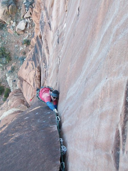 Crusing the second pitch.