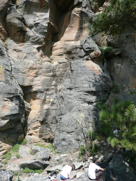 Rock Climbing Photo: Spring Mountain Oregon, in the first talus field l...