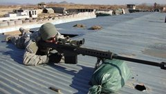 Rock Climbing Photo: 50 cal sniper rifle