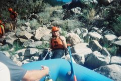 Rock Climbing Photo: Someones raft popped