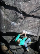Rock Climbing Photo: John setting up for the throw.  Photo: Paul Campbe...
