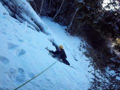 Rock Climbing Photo: Melissa Feldmann follows P1 of The Cascade(NEI 2).