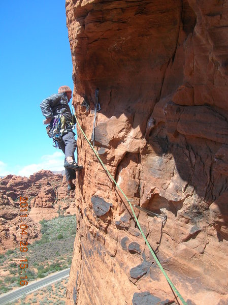 Rock Climbing Photo: Heading out of the pod at the beginning of the sec...