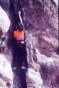 Rock Climbing Photo: My then-nine year old son on a successful attempt ...