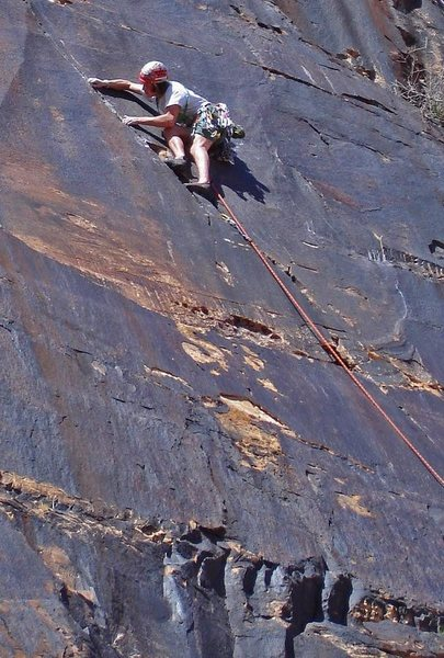 Rock Climbing Photo: Greg Jackson at the crux on 'Mushroom People' 5.10...