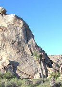 Rock Climbing Photo: Granny Goose follows the obvious offwidth crack.