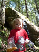 Rock Climbing Photo: Had to sneak one in of my daughter.  She had an am...