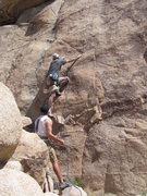 Rock Climbing Photo: Todd Gordon leading Barrett's during the Flandersf...