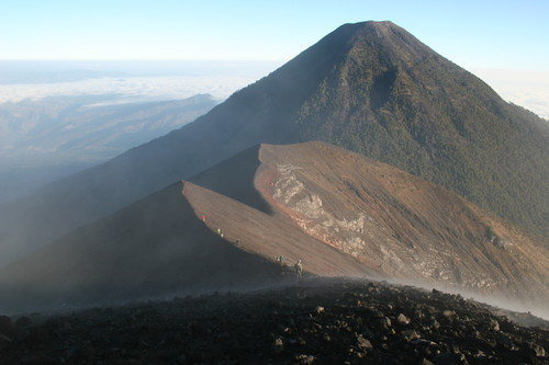 View of Acatenango from Fuego.