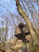 Rock Climbing Photo: This is Teeter Totter Boulder as seen looking from...