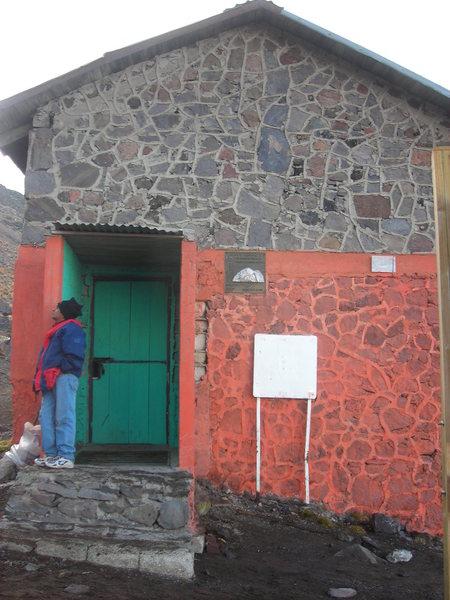 Rock Climbing Photo: The hut.