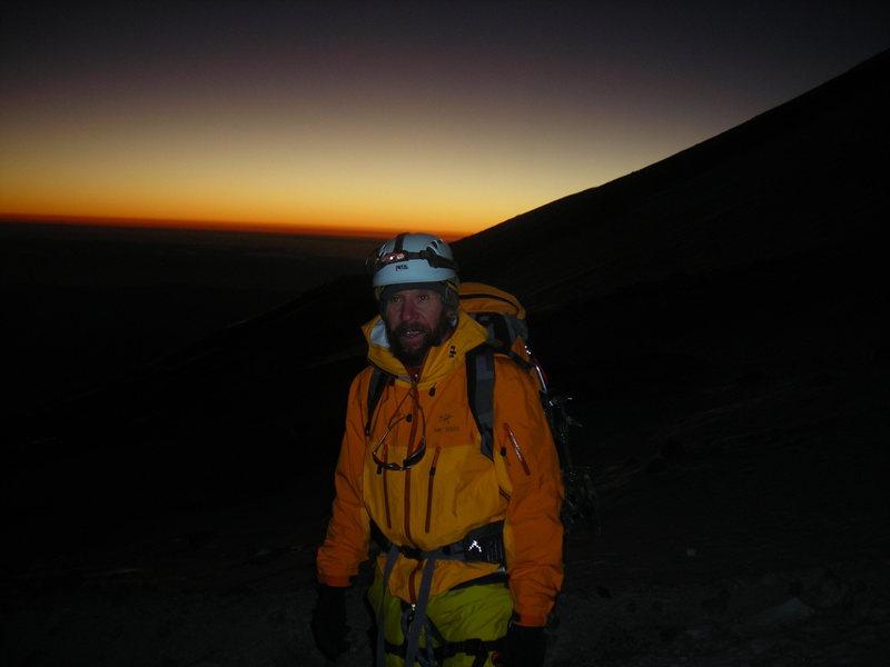 Sunrise on the Jalapa Glacier.