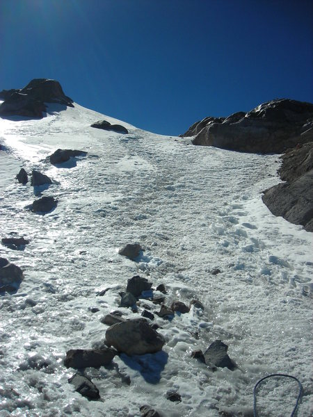 Rock Climbing Photo: We chose the direct route up rather than going thr...