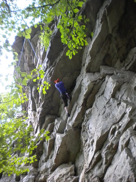 climber under Fortis Roof