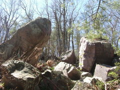 Rock Climbing Photo: Overhanging boulder looked very nice!