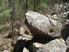 Rock Climbing Photo: Another view of the overhanging pillar.