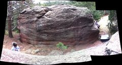 Rock Climbing Photo: The opposite side of the Gold Nugget boulder