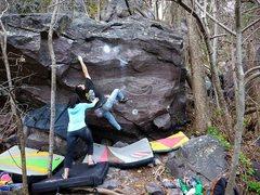 Rock Climbing Photo: Crossing.